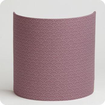 applique murale design en tissu motif japonais mauve yoake. Black Bedroom Furniture Sets. Home Design Ideas
