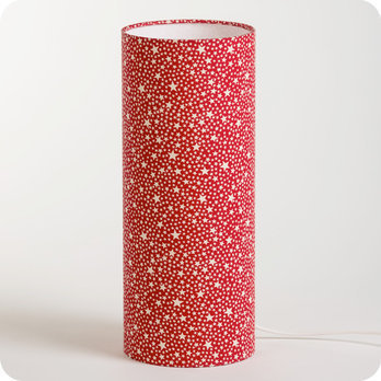 lampe tube poser enfant en tissu motif toile rouge. Black Bedroom Furniture Sets. Home Design Ideas