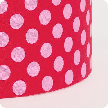 Abat jour design pour lampe lampadaire ou suspension en tissu motif pois vintage grain de - Tissu pour abat jour ...