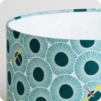 abat jour imprim en tissu pour lampe lampadaire ou suspension graphique bleu vert libellule. Black Bedroom Furniture Sets. Home Design Ideas