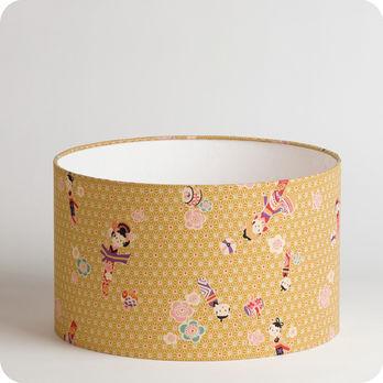 abat jour imprim en tissu pour lampe lampadaire ou suspension motif japonais kokeshi. Black Bedroom Furniture Sets. Home Design Ideas