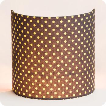 applique murale en tissu motif pois vintage grain d 39 avoine. Black Bedroom Furniture Sets. Home Design Ideas