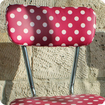 meubles vintage chaises fauteuils paire de chaises de cuisine ann es 60 pois fabuleuse. Black Bedroom Furniture Sets. Home Design Ideas