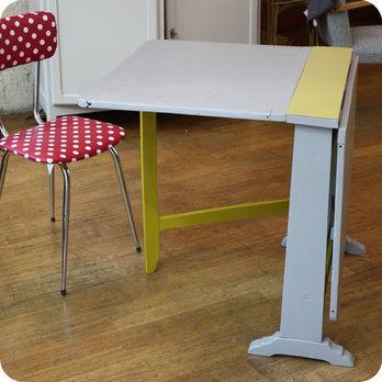 meubles vintage bureaux tables table de m tier pliante fabuleuse factory. Black Bedroom Furniture Sets. Home Design Ideas