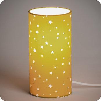lampe de chevet enfant en tissu motif toile moutarde orion. Black Bedroom Furniture Sets. Home Design Ideas