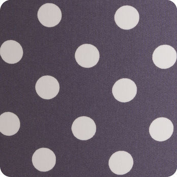 Abat jour design pour lampe lampadaire ou suspension en tissu motif pois vintage prune snow - Tissu pour abat jour ...