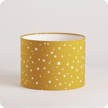 abat jour ou suspension pour chambre enfant en tissu motif toiles jaune moutarde orion. Black Bedroom Furniture Sets. Home Design Ideas