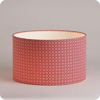 luminaires abat jour suspension abat jour suspension cylindrique tissu red daisy. Black Bedroom Furniture Sets. Home Design Ideas