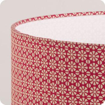Abat jour design pour lampe lampadaire ou suspension en tissu motif graphique red daisy - Tissu pour abat jour ...