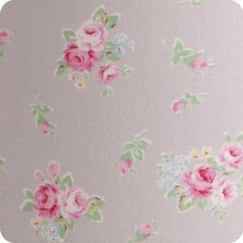 abat jour imprim en tissu pour lampe lampadaire ou suspension motif fleur gris lady grey. Black Bedroom Furniture Sets. Home Design Ideas