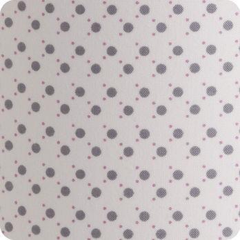 Abat jour ou suspension pour chambre enfant en tissu motif pois blanc gris mimi pinson - Tissu pour abat jour ...