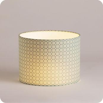 Abat jour design pour lampe lampadaire ou suspension en tissu motif graphique vert daisy - Tissu pour abat jour ...