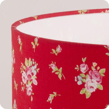 Abat jour imprim en tissu pour lampe lampadaire ou suspension motif fleur rouge lady rouge - Tissu pour abat jour ...