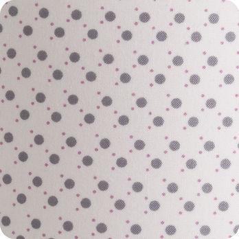 Applique murale enfant en tissu motif pois blanc gris - Applique murale tissu blanc ...