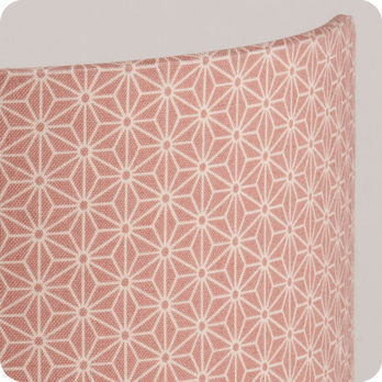 Applique murale design en tissu motif japonais rose poudre - Applique murale tissu blanc ...