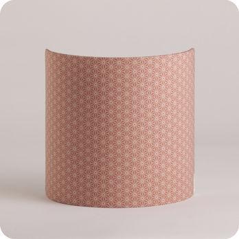applique murale design en tissu motif japonais rose poudre. Black Bedroom Furniture Sets. Home Design Ideas