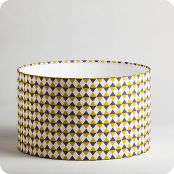 luminaires abat jour suspension abat jour suspension cylindrique tissu pythagore. Black Bedroom Furniture Sets. Home Design Ideas