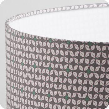 abat jour design pour lampe lampadaire ou suspension en tissu petit pan motif h lium. Black Bedroom Furniture Sets. Home Design Ideas