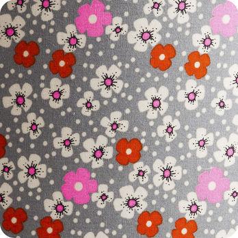 Abat jour ou suspension pour chambre enfant en tissu petit pan fleur des les - Tissu pour abat jour ...