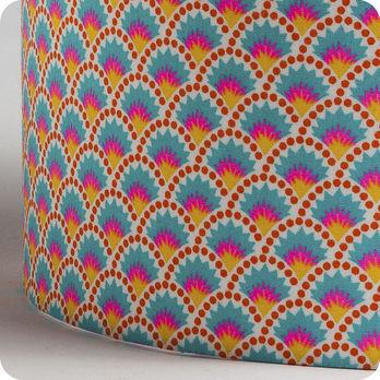 abat jour ou suspension pour chambre enfant en tissu petit pan wasabi. Black Bedroom Furniture Sets. Home Design Ideas