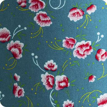 applique murale en tissu petit pan petite pivoine bleu. Black Bedroom Furniture Sets. Home Design Ideas