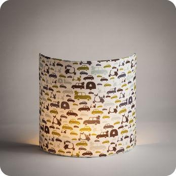 luminaires appliques murales applique murale demi lune tissu monsieur hulot fabuleuse factory. Black Bedroom Furniture Sets. Home Design Ideas