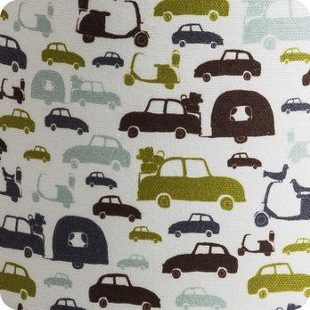 applique murale enfant en tissu motif voiture vintage m hulot. Black Bedroom Furniture Sets. Home Design Ideas