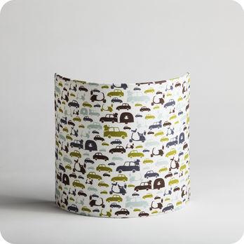 Applique murale enfant en tissu motif voiture vintage m - Applique murale tissu blanc ...