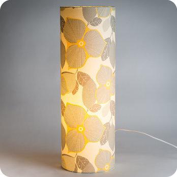 En Vintage Tissu Bloom Poser À Lampe Tube Motif tCdQrxsh
