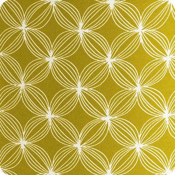 Abat jour design pour lampe lampadaire ou suspension en tissu motif vintage jaune vert curry - Tissu pour abat jour ...