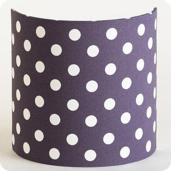 applique murale en tissu motif pois vintage gris prune snow. Black Bedroom Furniture Sets. Home Design Ideas