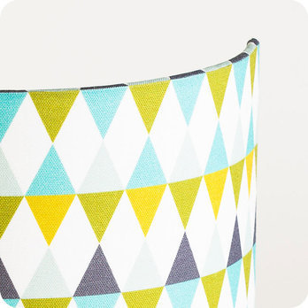 Applique murale design en tissu motif g om trique cosinus - Applique murale design scandinave ...