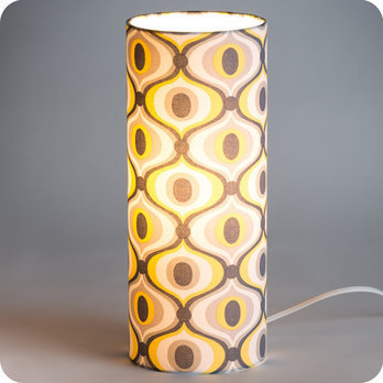 lampe tube poser en tissu motif vintage groovy. Black Bedroom Furniture Sets. Home Design Ideas