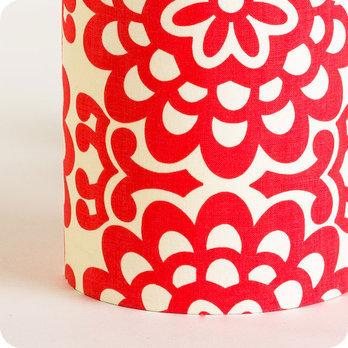 lampe tube poser en tissu motif vintage graphique rouge flower power. Black Bedroom Furniture Sets. Home Design Ideas