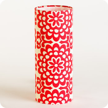 Poser Motif Tube En Graphique Power Tissu Lampe Rouge À Vintage Flower Ygyf6bv7