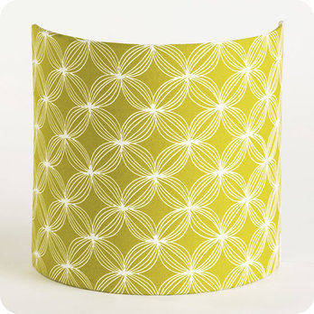 applique murale en tissu motif vintage jaune vert curry spirograph. Black Bedroom Furniture Sets. Home Design Ideas