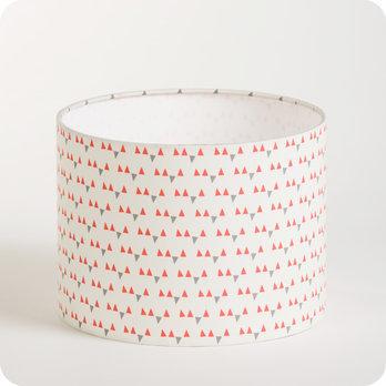 abat jour ou suspension pour chambre enfant en tissu motif scandinave rose mistinguett. Black Bedroom Furniture Sets. Home Design Ideas