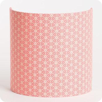 applique murale design en tissu motif japonais rose hoshi. Black Bedroom Furniture Sets. Home Design Ideas