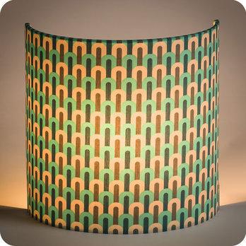 applique murale design en tissu motif vintage chrysler. Black Bedroom Furniture Sets. Home Design Ideas