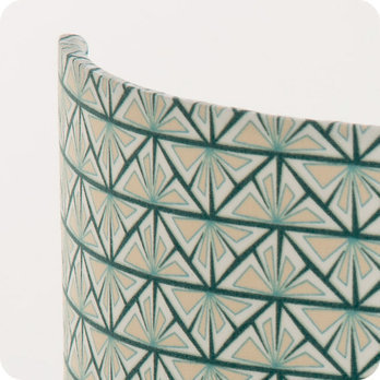 applique murale design en tissu motif vintage gris bleu vert gatsby. Black Bedroom Furniture Sets. Home Design Ideas