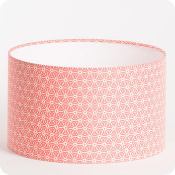 Abat jour design pour lampe lampadaire ou suspension en tissu motif japonais rose hoshi - Tissu pour abat jour ...