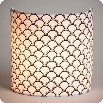 Applique murale design en tissu motif caille noir et - Applique murale tissu blanc ...