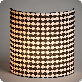 applique murale en tissu motif japonais noir et blanc. Black Bedroom Furniture Sets. Home Design Ideas