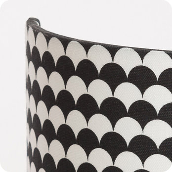 Applique murale en tissu motif japonais noir et blanc - Applique murale tissu blanc ...