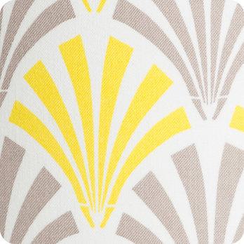 applique murale design en tissu motif vintage jaune gris peacock. Black Bedroom Furniture Sets. Home Design Ideas