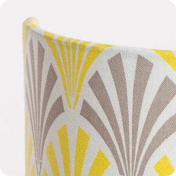 Applique murale design en tissu motif vintage jaune gris - Applique murale entree ...