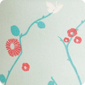 applique murale design en tissu motif japonais bleu mint. Black Bedroom Furniture Sets. Home Design Ideas
