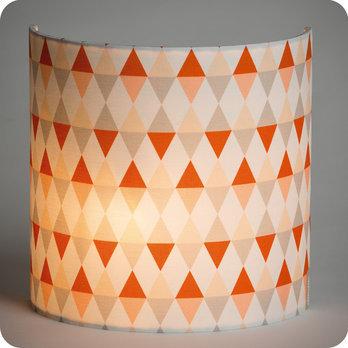 applique murale en tissu motif g om trique orange gris. Black Bedroom Furniture Sets. Home Design Ideas