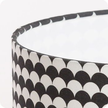 Abat jour design pour lampe lampadaire ou suspension en tissu motif japonais noir et blanc - Tissu pour abat jour ...