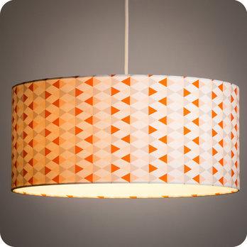 luminaires abat jour suspension abat jour suspension cylindrique tissu tangente. Black Bedroom Furniture Sets. Home Design Ideas